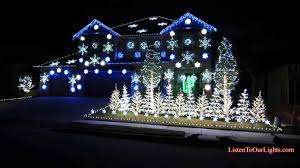 light show house with led lights