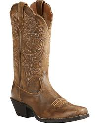 womens cowboy boots ariat s up distressed leather boots square
