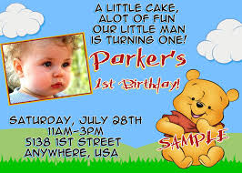 free printable winnie the pooh photo birthday invitations drevio