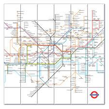 London Metro Map by Ceramic Map Tiles London Underground Map From Love Maps On