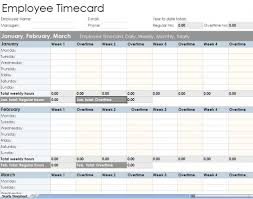 employee monthly timesheet template in employee time tracking