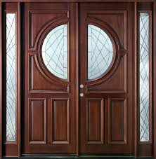Double Glazed Wooden Front Doors by Front Doors Wood Double Front Door With Sidelights Picture