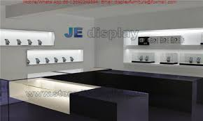 Display Cabinet With Lighting Phone Electronic Products Store Interior Design In Display Cabinet