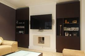 Modern Cupboards Living Room Charming White Modern Plywood Living Room Wall Mount