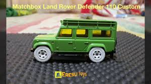 land rover matchbox matchbox land rover defender 110 custom youtube