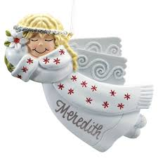 Birthstone Ornament Personalized Birthstone Angel Pewter Ornament Miles Kimball