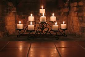 stunning flameless candles in fireplace images inspiration