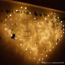 copper wire led lights 2m flashing led string copper wire heart shaped 220v 6w for marriage