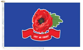 remembrance day poppy lest we forget flag with and toggle 6
