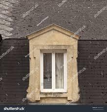 French Dormer Windows Dormer Window Delicate Curtains Stone Dormer Stock Photo 306491603