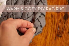how to make a diy upcycled rag rug curbly