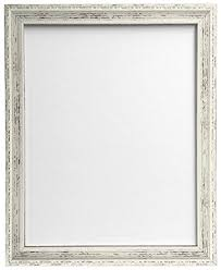 frames by post shabby chic picture photo frame a3 distressed white
