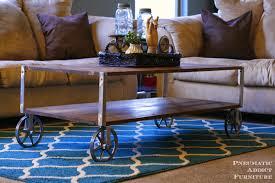 epic industrial coffee table diy 78 in interior designing home