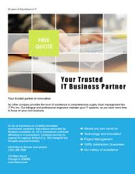 your trusted partner free flyer template by hloom com template