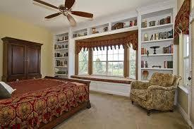 Window Seat Bookshelves Traditional Guest Bedroom With Bay Window U0026 Built In Bookshelf In