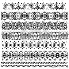 black ornamental trim collection stock photography cartoondealer