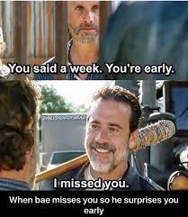 The Walking Dead Funny Memes - the walking dead funny meme when bae misses you the walking dead