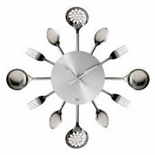 modern kitchen clocks amazing utensils wall clock 8 karlsson silverware utensils wall
