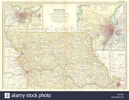 Map Of Kansas City Mo Missouri North State Map Showing Counties Inset Kansas City St
