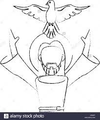 holy devotion jesus holy spirit devotion sacrifice skecth stock vector