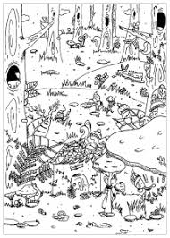 jungle u0026 forest coloring pages adults justcolor