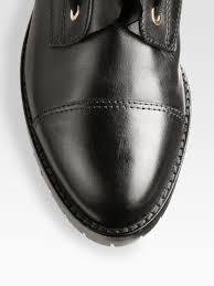 slip on biker boots valentino ruffles biker boots in black lyst