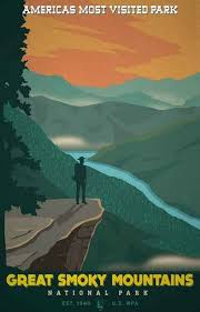 Tennessee travel posters images Great smoky mountains national park poster 11x17 smoky mountain jpg