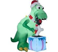 Dinosaur Blow Up Christmas Decoration by Christmas Inflatable 8 1 2 Ft Tall T Rex Airblown Yard Prop Ebay