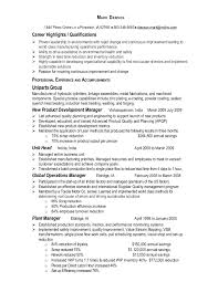 Operations Manager Resume Template Manufacturing Operations Manager Resume Mark Dawson