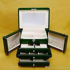 luxury necklace box images Luxury wooden multiple layers of high goss piano lacquer finish jpg