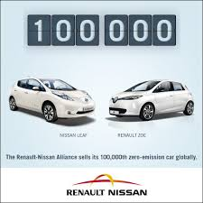 renault alliance hatchback renault nissan sells its 100 000th zero emission car my renault