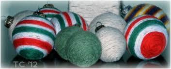 yarn ornaments to make