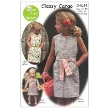 olive ann designs classy cargo dress u0026 doll dress pattern