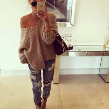 sweater short sweater grey sweater oversized sweater knitted