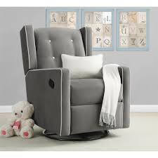 Swivel Recliner Chairs For Living Room Dorel Living Baby Relax Mikayla Swivel Gliding Recliner Gray