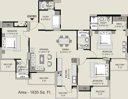 Sq Ft 1835 Sq Ft 3 Bhk 4t Apartment For Sale In Exotica Housing Fresco