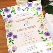 Seal And Send Invitations Painterly Florals Seal And Send Invitation Seal And Send Wedding