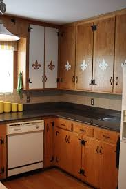 Yellow Kitchen Walls With Oak Cabinets by Kitchen Beautiful Kitchen Window Treatment Decoration With Light