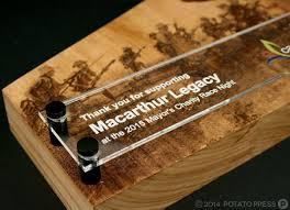 cbelltown trophy acrylic plaque anzac wood custom timber