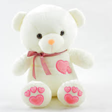 teddy valentines day valentines day white teddy with pink heart shaped
