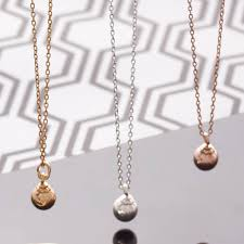 small ball pendant necklace images Small ball pendant necklace by lovett co jpg