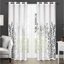 Winter Window Curtains Wilshire Winter White Burnout Sheer Grommet Top Window Curtain