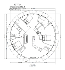 Yurt Floor Plans by 40 U0027 Yurt Home The 40 U0027 Model Has Shelter Designs Yurts