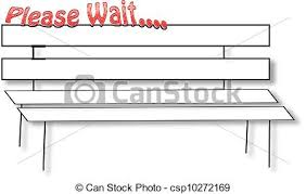 wait bench please wait bench clip art vector search drawings and graphics