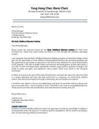 preschool administrator cover letter