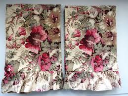 Shabby Chic Pillow Shams by Ralph Lauren Standard Pillow Shams Coastal Garden Floral Set