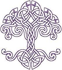 redwork celtic knotted tree of embroidery design