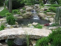 lawn garden small backyard garden ponds with stone waterfalls
