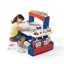furniture extraordinary blue and red portable craft table with