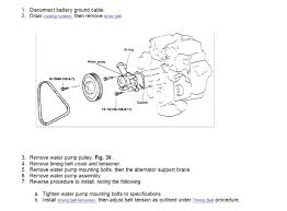 hyundai accent detail diagrams on how to could replace the water pump